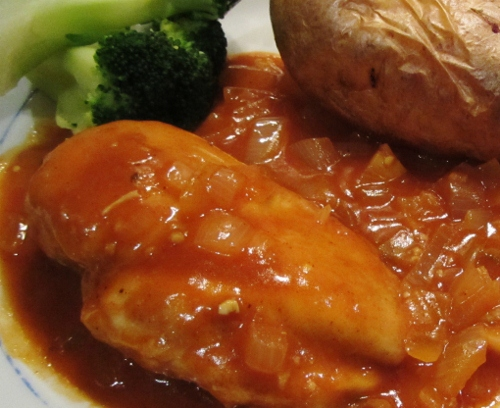 Chicken in Red wine vinegar sauce (500x408)