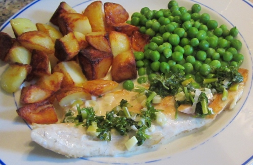 parlsey and lemon fish sauce (500x328)