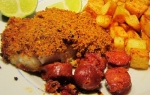 Baked Cod with Chorizo Crust