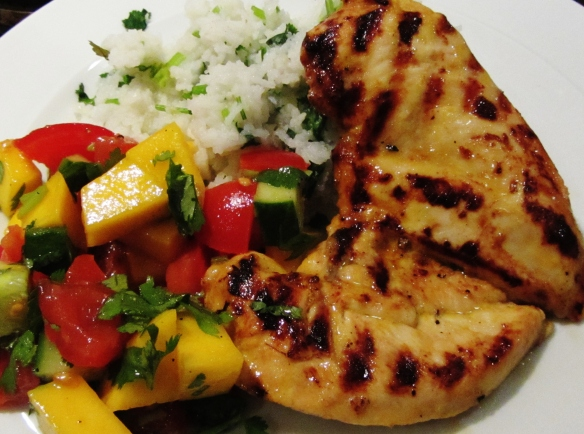 chicken and mango salsa