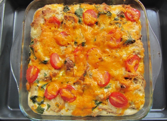 breakfast casserole cooked