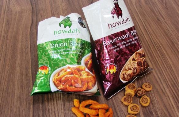 Review of Howdah Onion Bhaji and Bakarwadi Bites