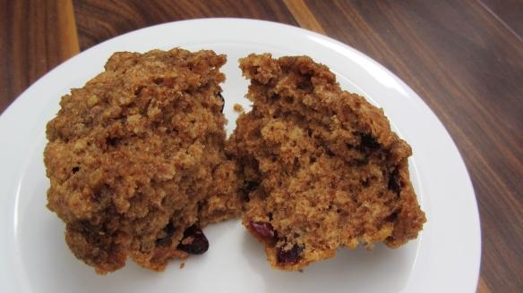 Cranberry oat streusal muffin