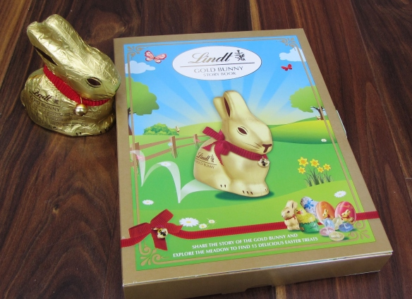 Lindt Gold bunny and story book