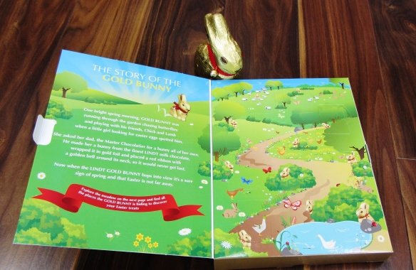 Lindt gold bunny story book